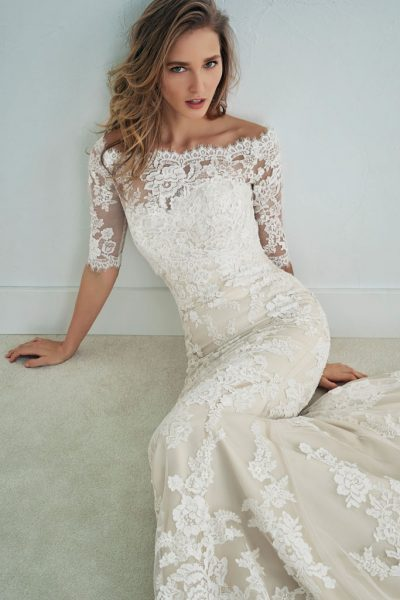White One Famosa Wedding Dress