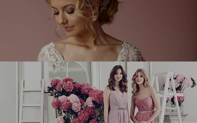 wedding and bridesmaids dresses Galway