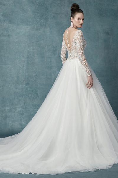 Mallory Dawn Wedding Dress Maggie Sottero | tulle ballgown lace wedding dress